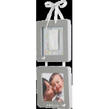 34120114  Jaunums! Baby Art Print Frame komplekts mazuļa pēdiņu/rociņu nospieduma izveidošanai, grey