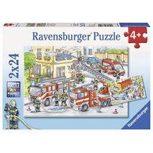 07814 Ravensburger Puzzle 2x24 Dienesta transports